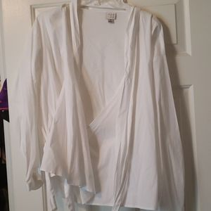 New with tags white wrap top